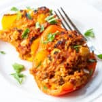 rice stuffed chicken peppers