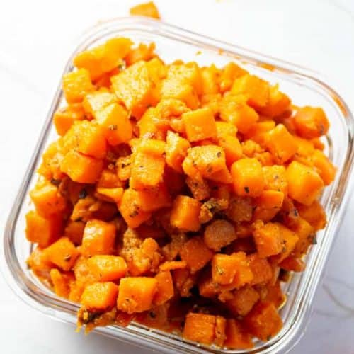 yam hashbrowns with a homemade spice blend