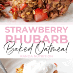 strawberry rhubarb oatmeal casserole