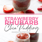 Strawberry Rhubarb Chia Seed Pudding