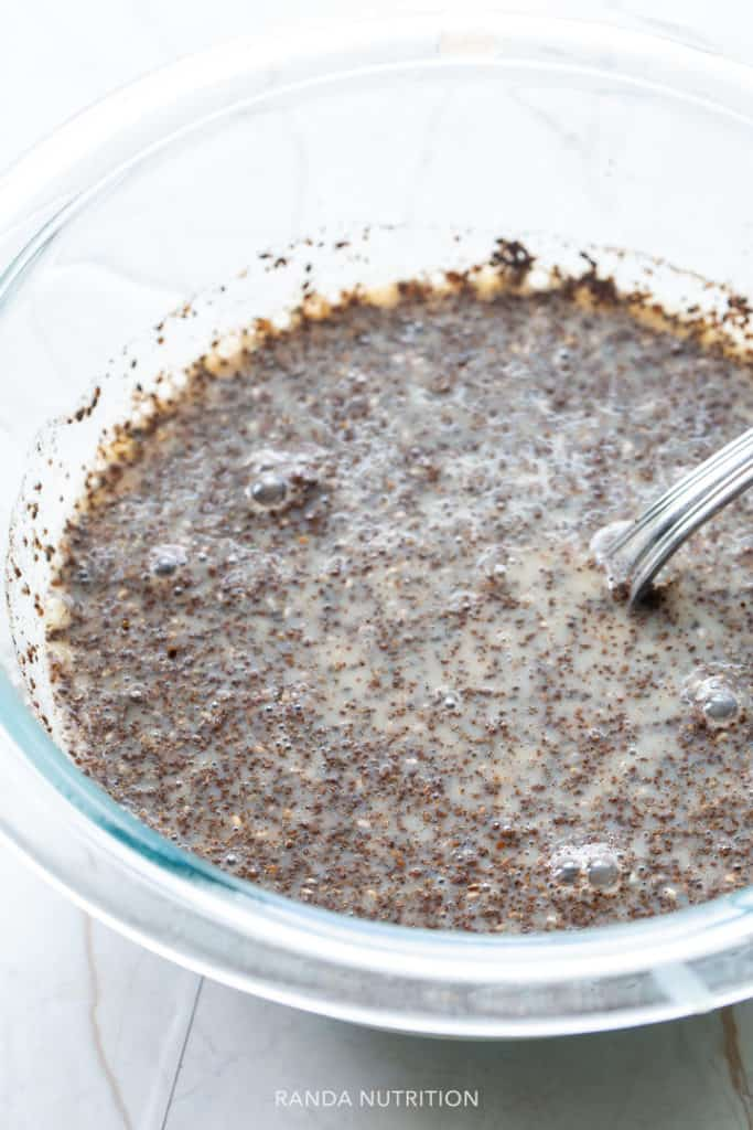 freshly prepared chia seed pudding