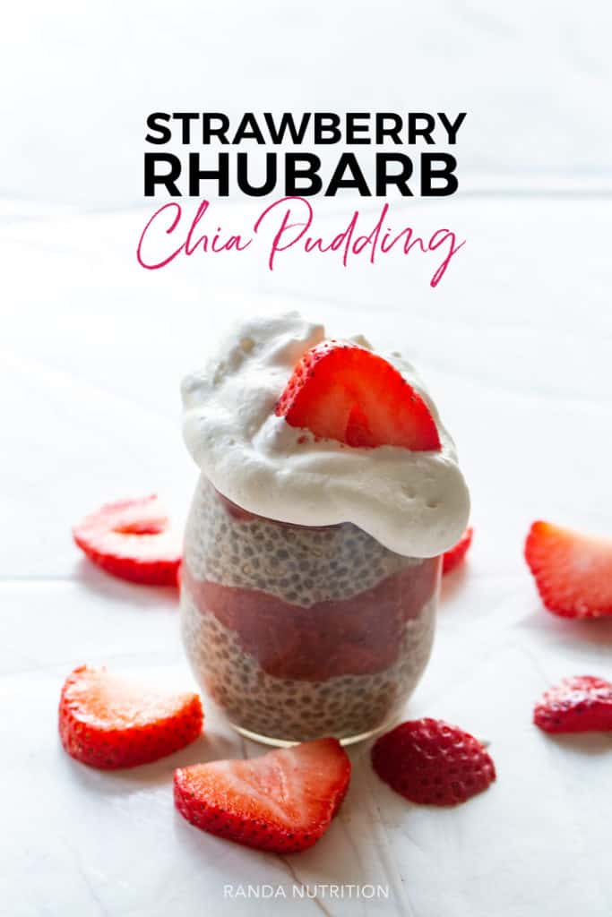 strawberry rhubarb chia pudding recipe