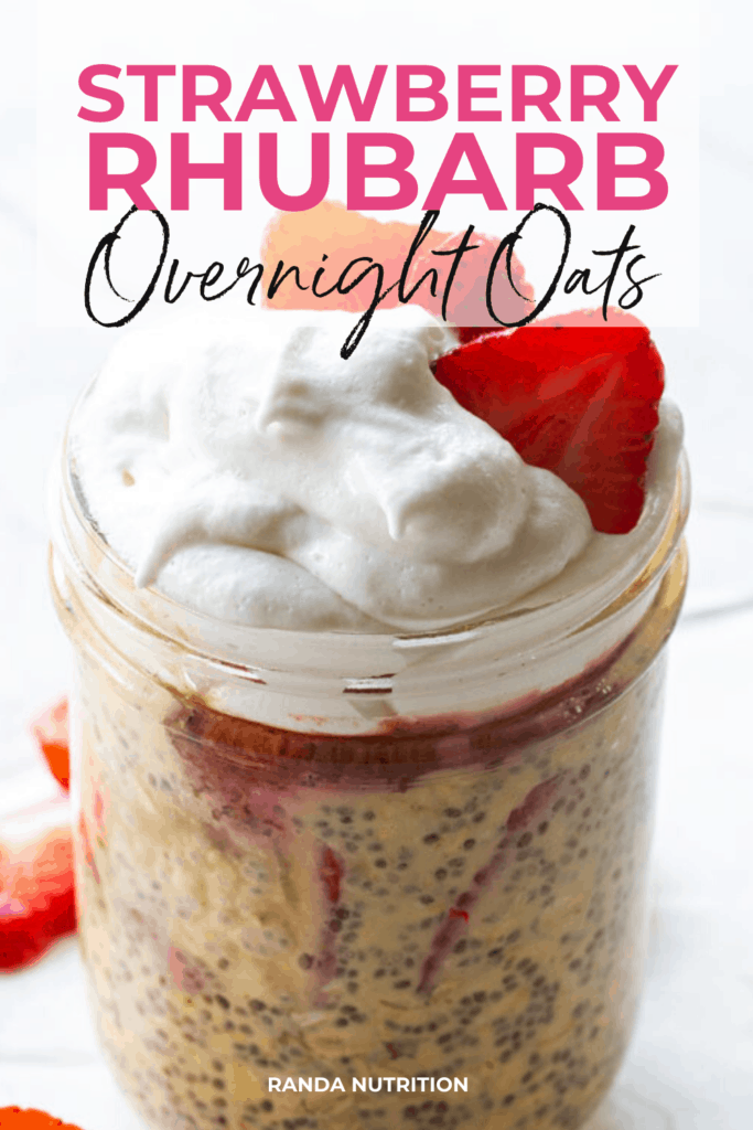 strawberry rhubarb protein overnight oats