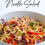 creamy thai chicken and veggie noodle salad