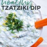 healthy tzatziki dip