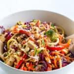 low carb chicken veggie salad