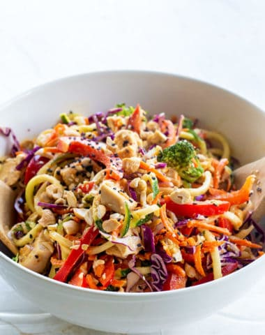 low carb chicken veggie salad