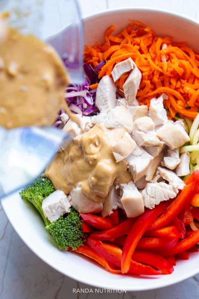 Thai Chicken Salad with Spiralized Noodles