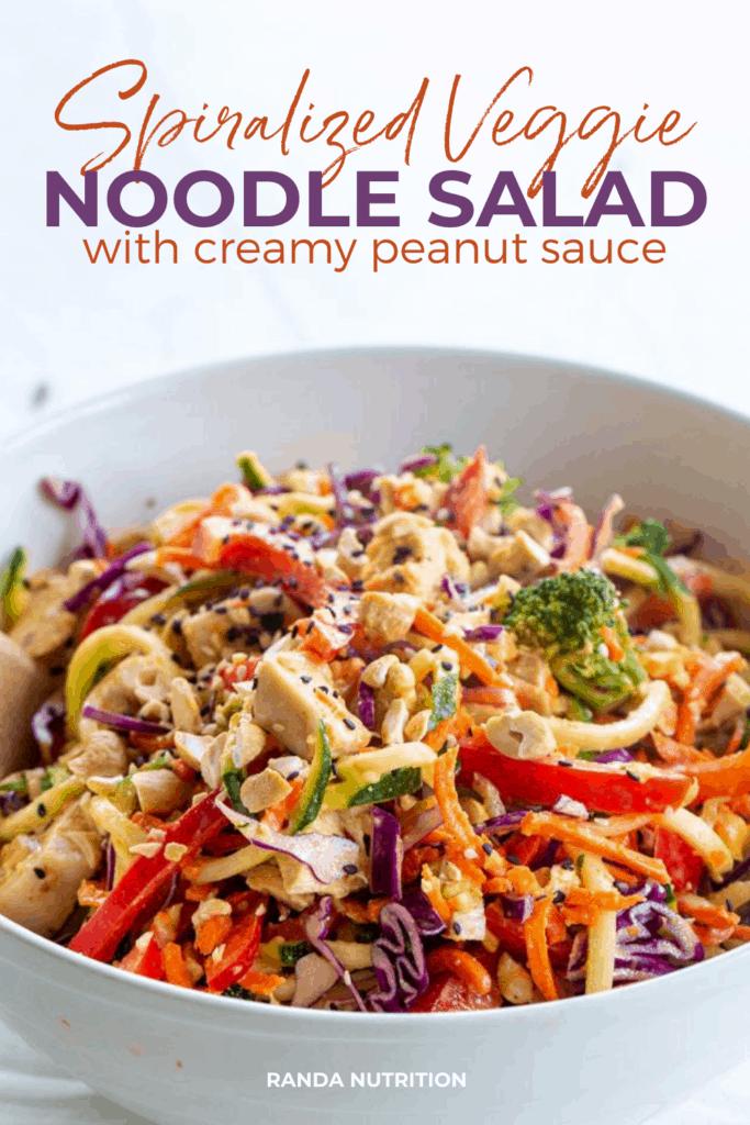 spiralized veggie noodle salad