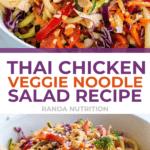 Thai Chicken Veggie Noodle Salad Recipe