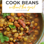 How to cook beans without the gas