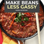 how to make beans less gassy