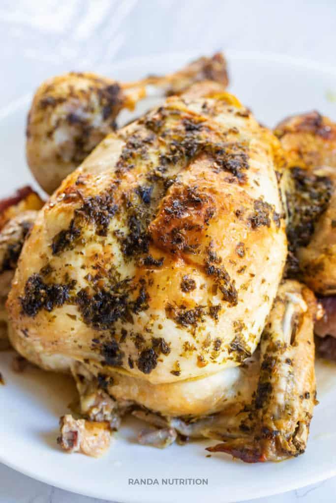 ninja foodi cooked herbed chicken