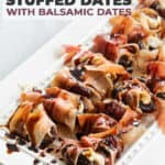 balsamic stuffed dates