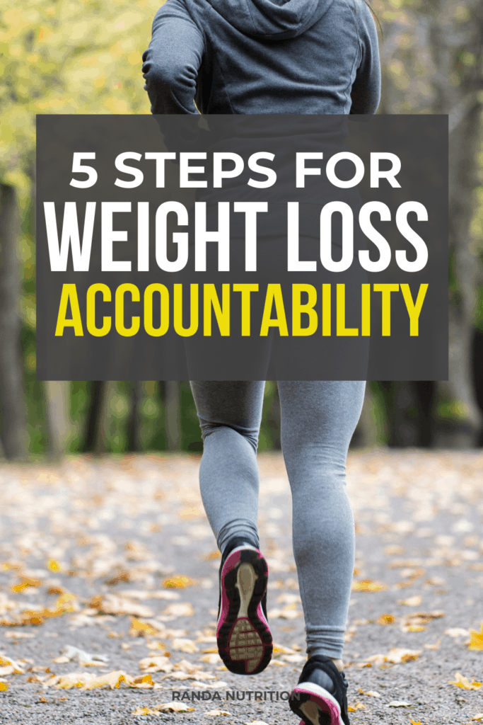 5 steps for weight loss accountability