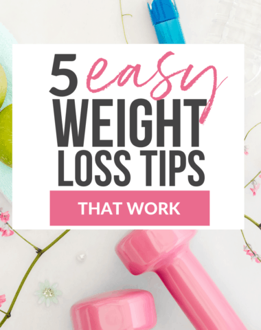 easy weight loss tips that work