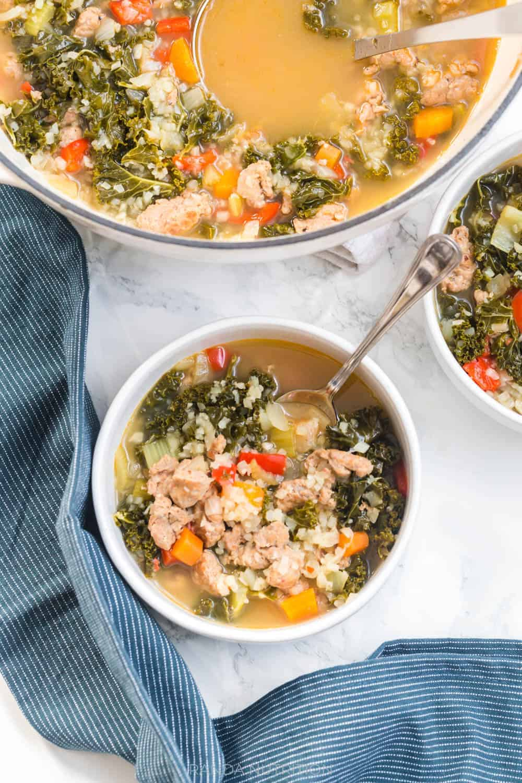 turkey italian sausage soup