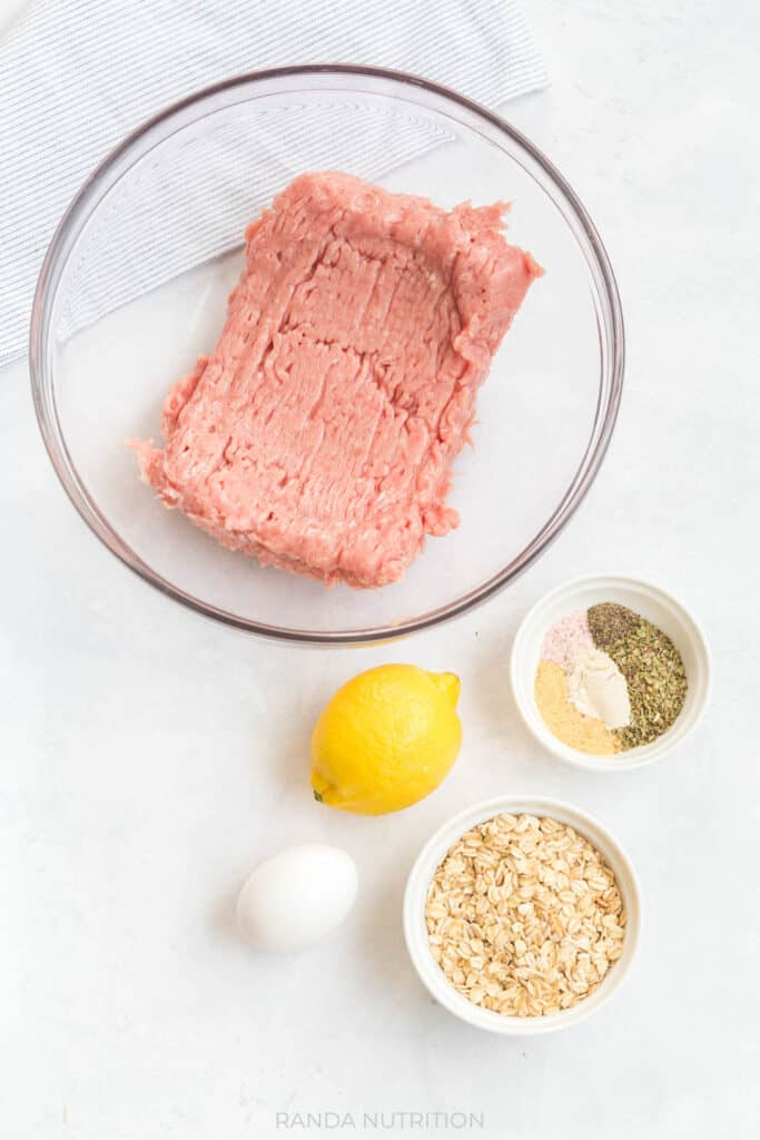 ingredients needed to make greek turkey meatballs