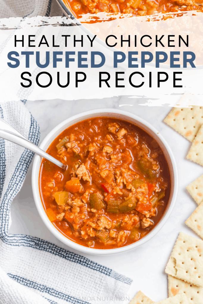 healthy chicken stuffed pepper soup recipe