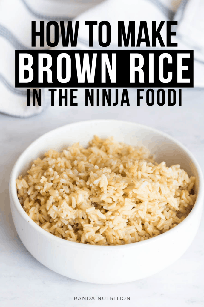how to cook brown rice in the Ninja Foodi