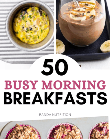 weekday breakfasts for busy school mornings