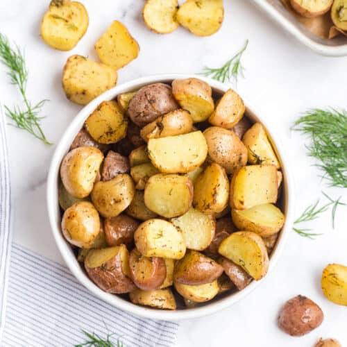 roasted garlic lemon potatoes