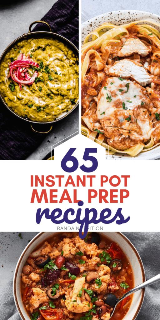 Instant Pot Meal Prep Recipes