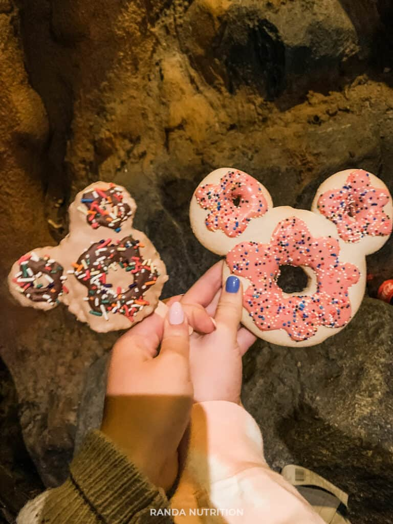 disney mickey mouse rice krispie treat and cookie