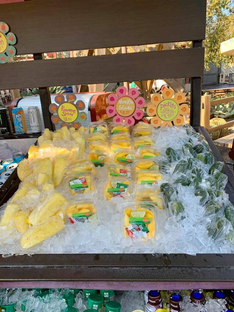 fruit stand cart at Disneyland