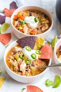 instant pot southwestern chicken soup