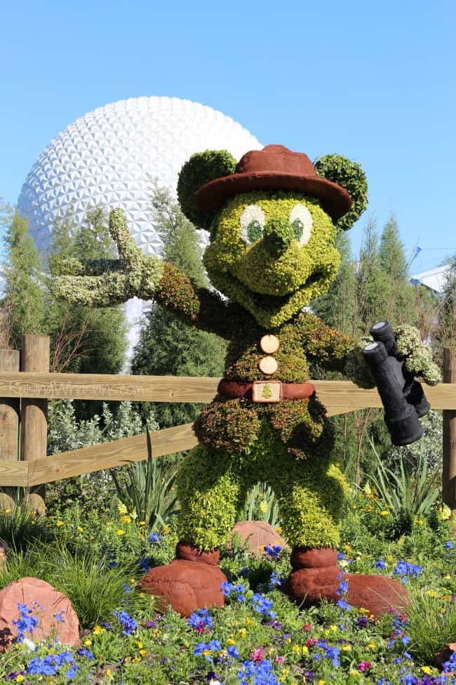 epcot flower and garden festival mickey mouse topiary
