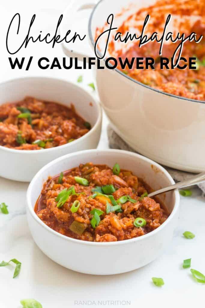 chicken jambalaya with cauliflower rice