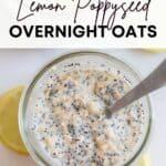 lemon poppy seed overnight oats