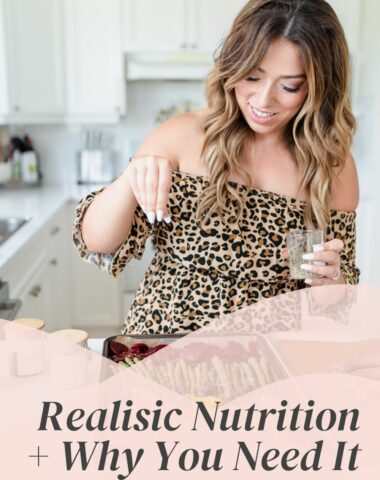 realistic nutrition and why you need it