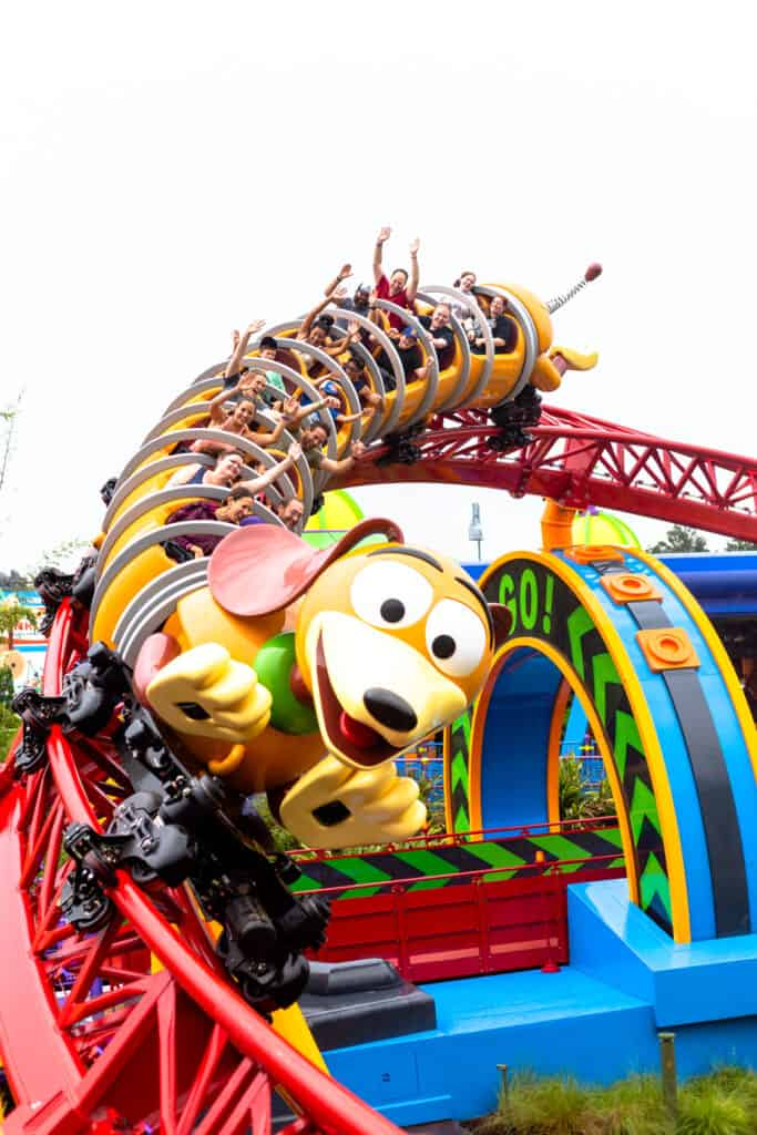 slinky dog dash ride at hollywood studios