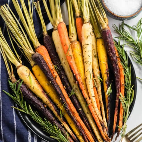 herb roasted carrots with garlic