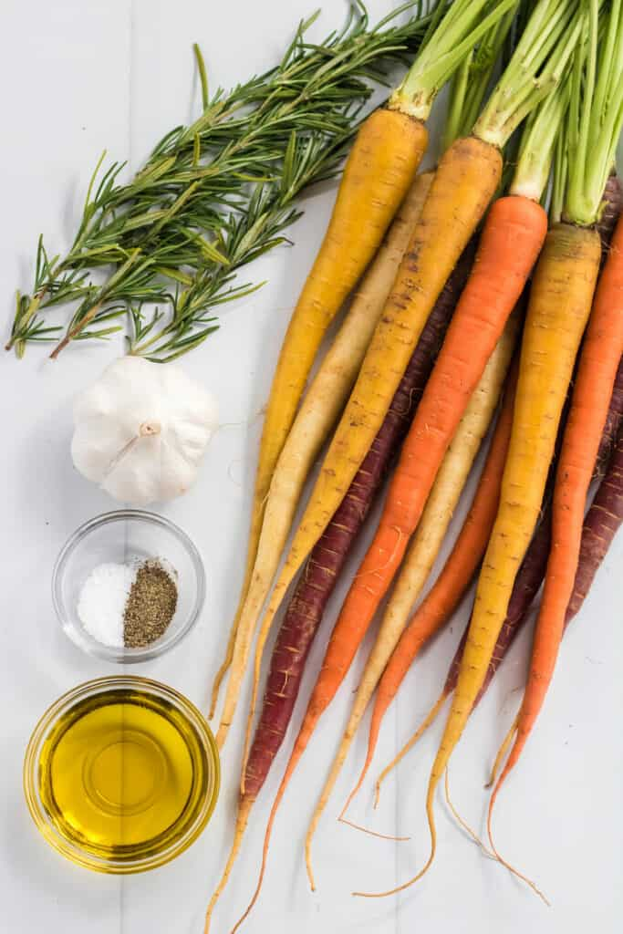 roasted rosemary rainbow carrots ingredients