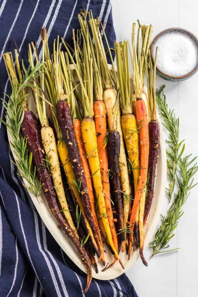 roasted multicolored carrots